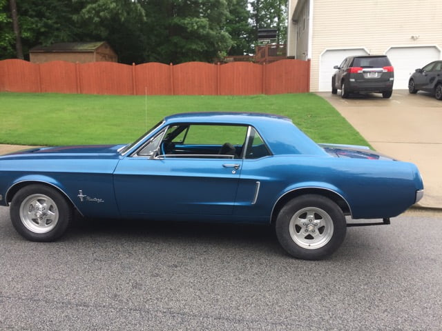 1968 Electric blue Mustang Coupe (Build finishing up in ...1968 Mustang Coupe Build