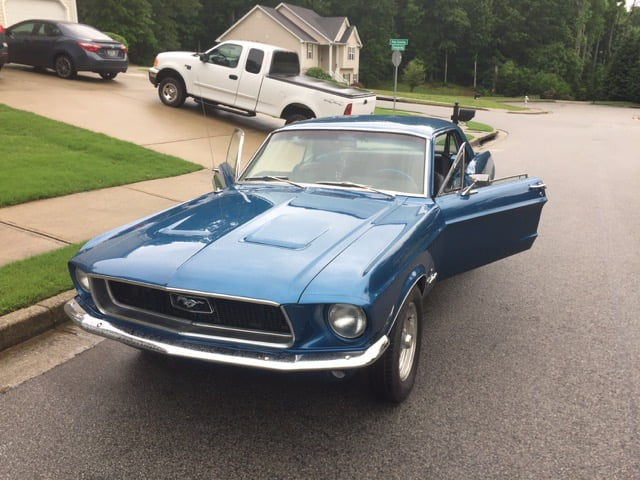 electric blue mustang coupe shipping    uk classic american car sales